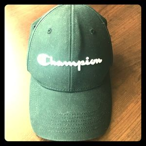 Selling one time used adjustable champion hat.